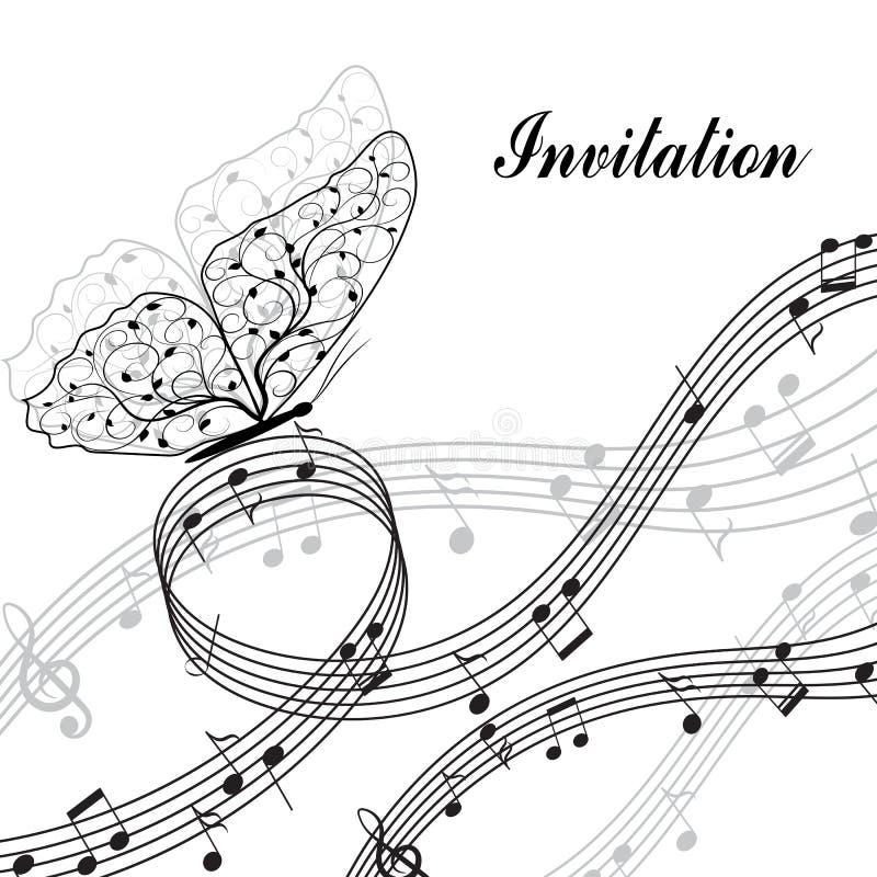 Muzikale ontwerpelementen vector illustratie