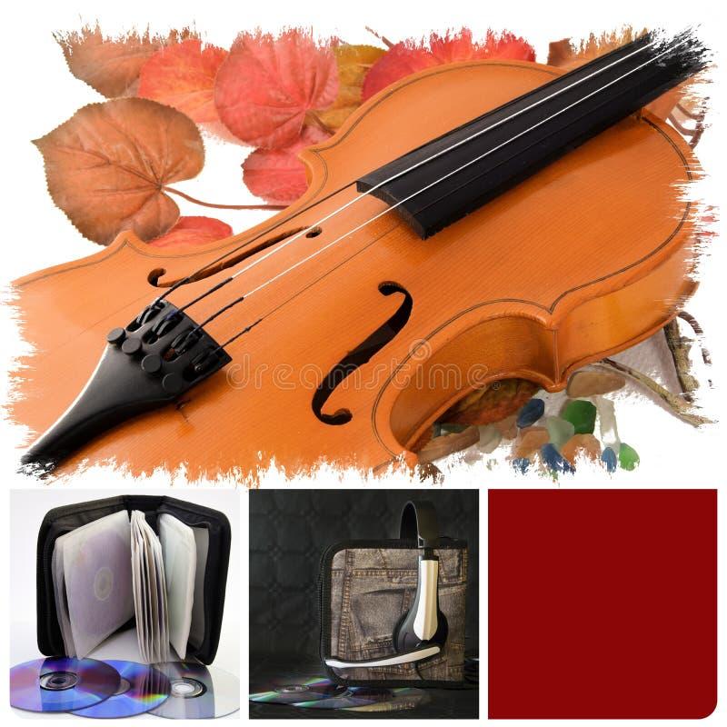 Muzikale opnamen stock afbeelding