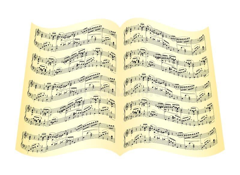 Muzikale samenstelling vector illustratie