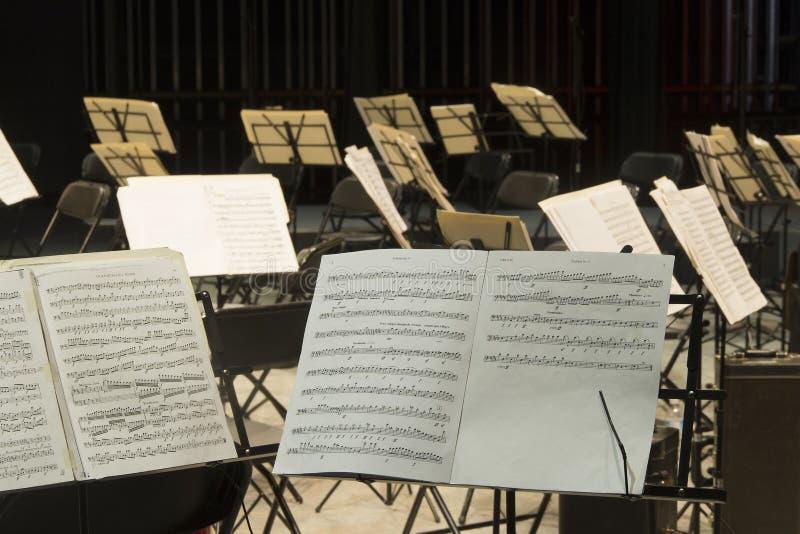 Muzikale Score stock foto