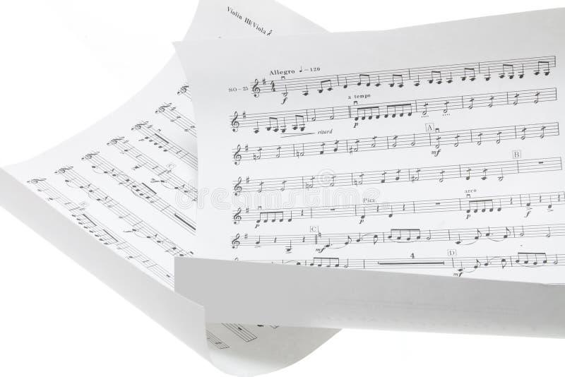 Muzikale Scores royalty-vrije stock foto's