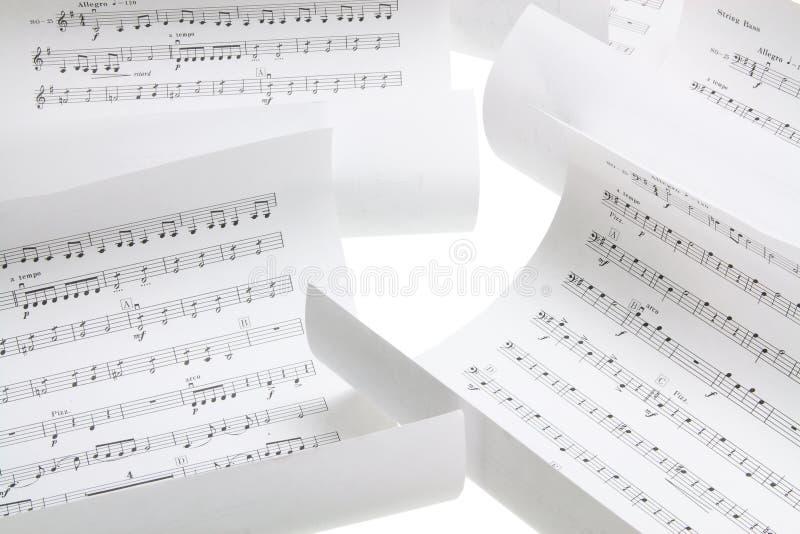 Muzikale Scores stock foto