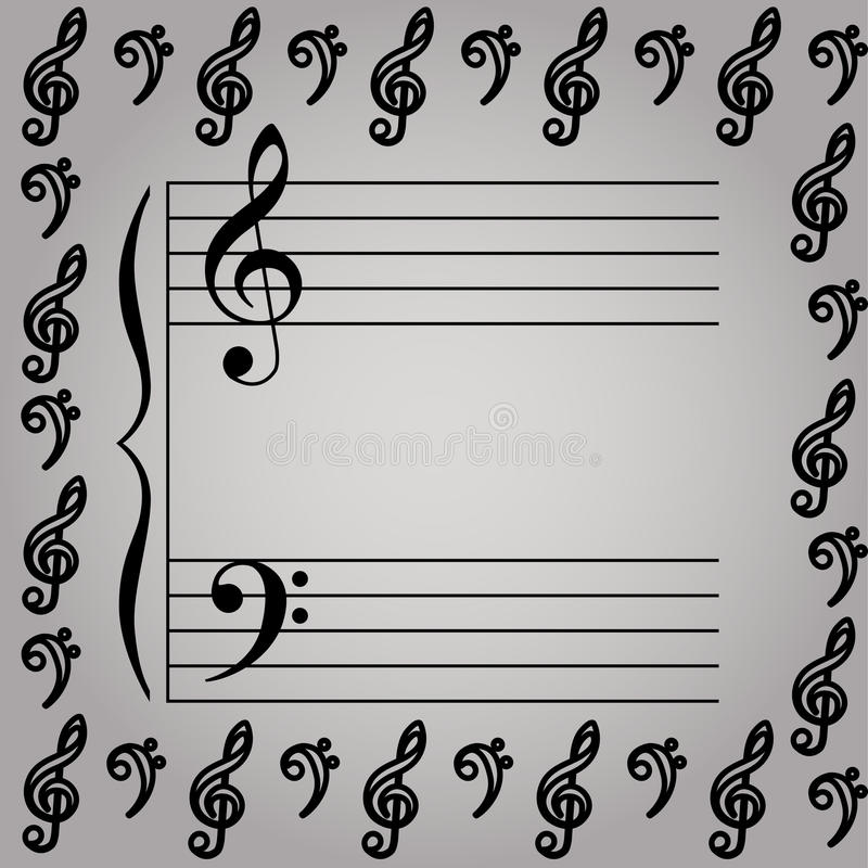 Download Muzikale staaf vector illustratie. Illustratie bestaande uit pagina - 29514855