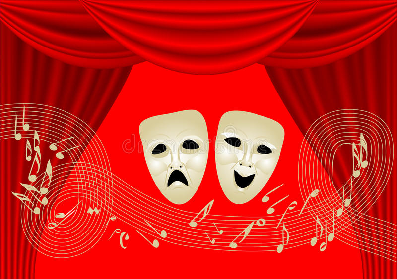 Muzikale Theatre stock illustratie
