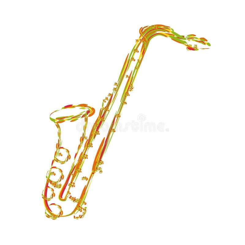 Muzikale van het achtergrond instrumentenpictogram abstracte illustratieobjecten gradiënt vector illustratie