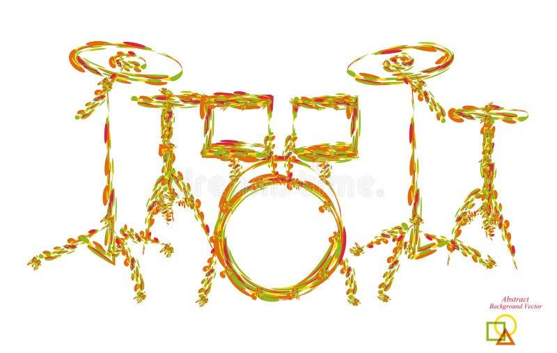 Muzikale van het achtergrond instrumentenpictogram abstracte illustratieobjecten gradiënt stock illustratie