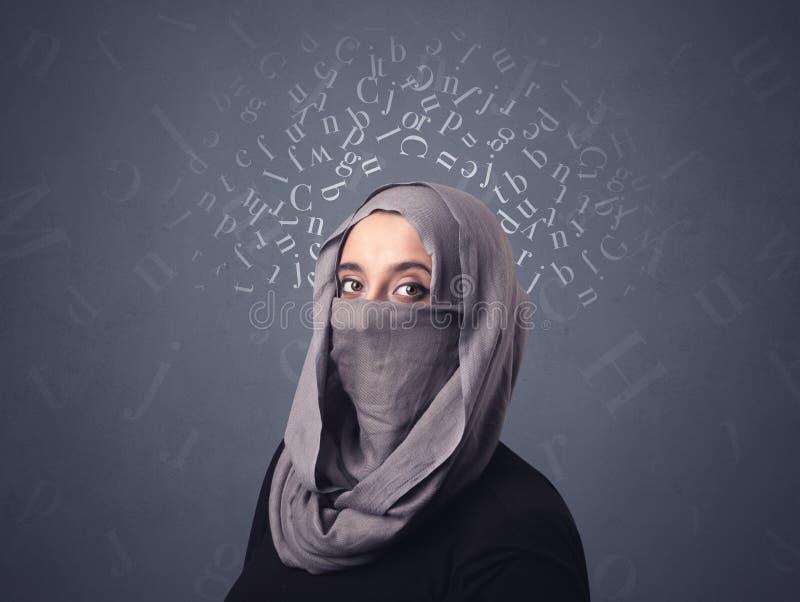 Muzułmańska kobieta Jest ubranym Niqab obrazy royalty free