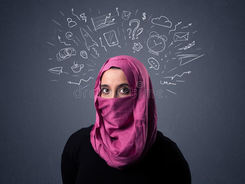Muzułmańska kobieta Jest ubranym Niqab zdjęcia stock