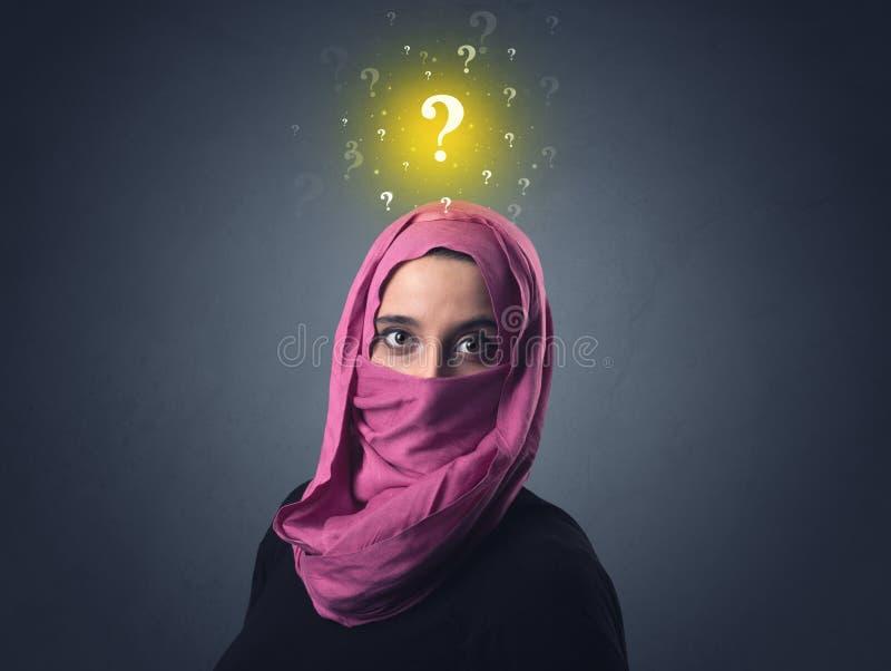Muzułmańska kobieta Jest ubranym Niqab zdjęcia royalty free