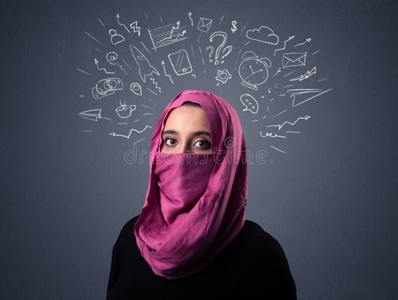 Muzułmańska kobieta Jest ubranym Niqab obrazy stock