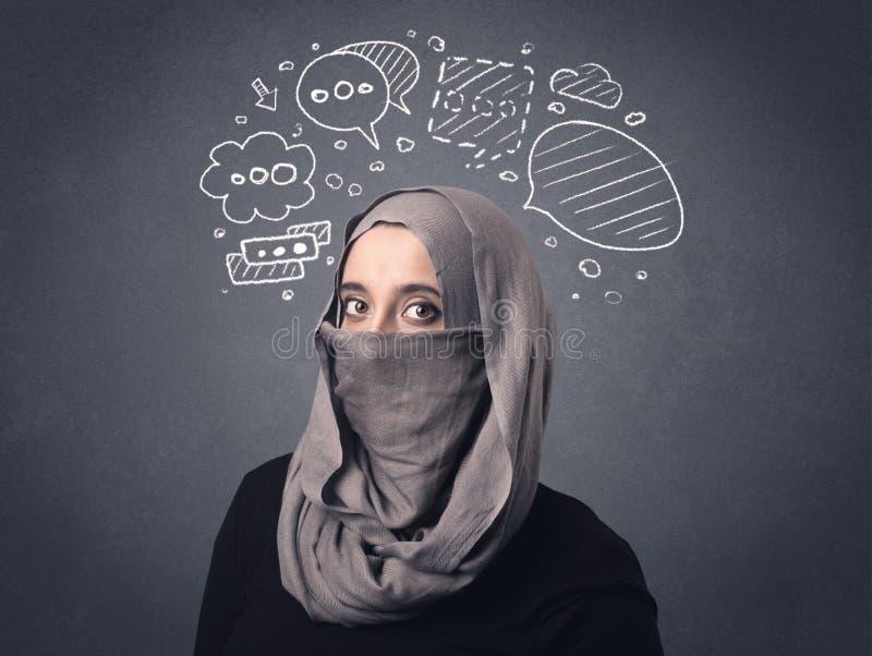 Muzułmańska kobieta Jest ubranym Niqab obraz stock