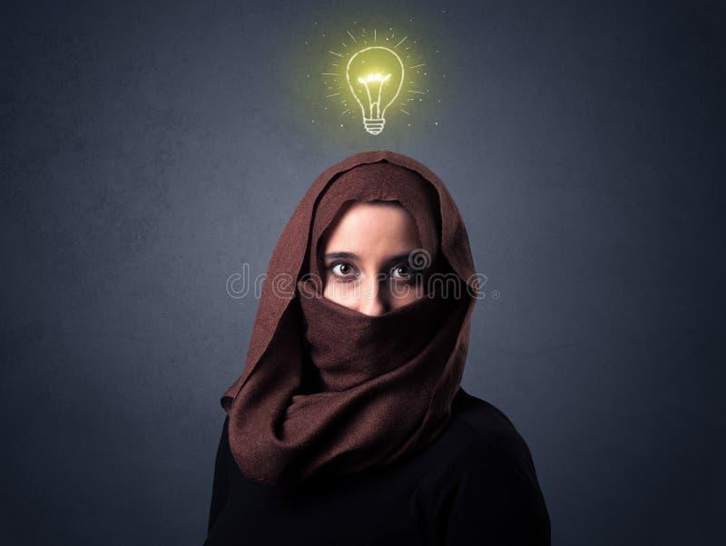 Muzułmańska kobieta Jest ubranym Niqab zdjęcie royalty free
