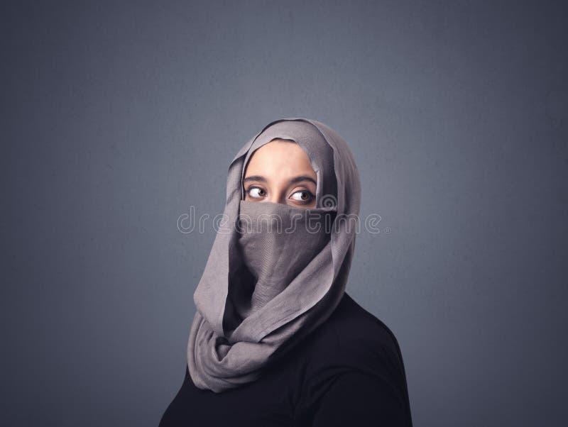 Muzułmańska kobieta Jest ubranym Niqab obraz royalty free