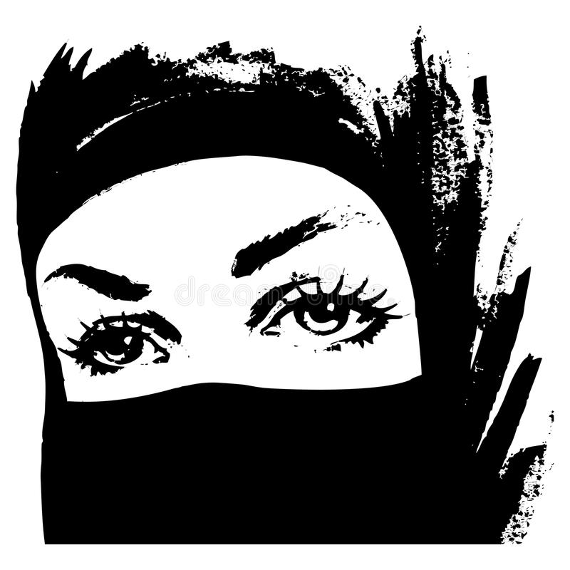 Muzułmańska kobieta w hijab ilustracji