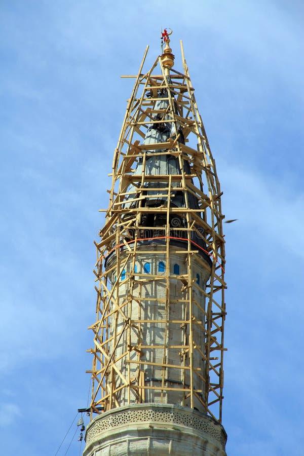 Muzułmańska minaretowa budowa zdjęcie royalty free
