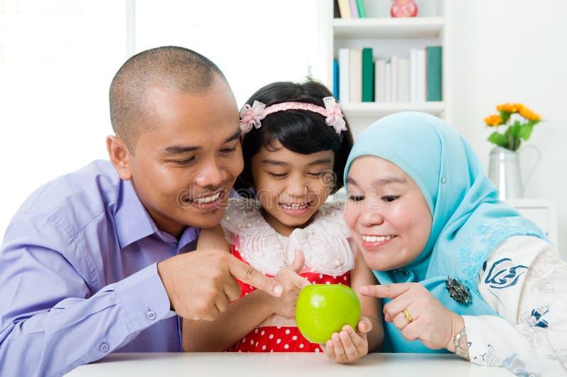 Muzułmańska rodzina obraz royalty free