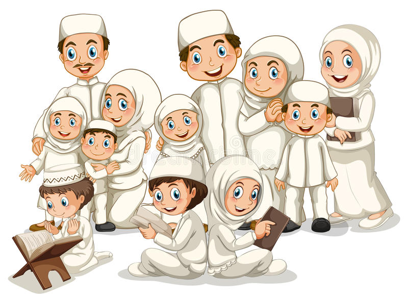 Muzułmańska rodzina royalty ilustracja