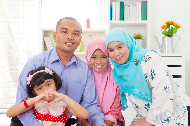 Muzułmańska rodzina fotografia royalty free