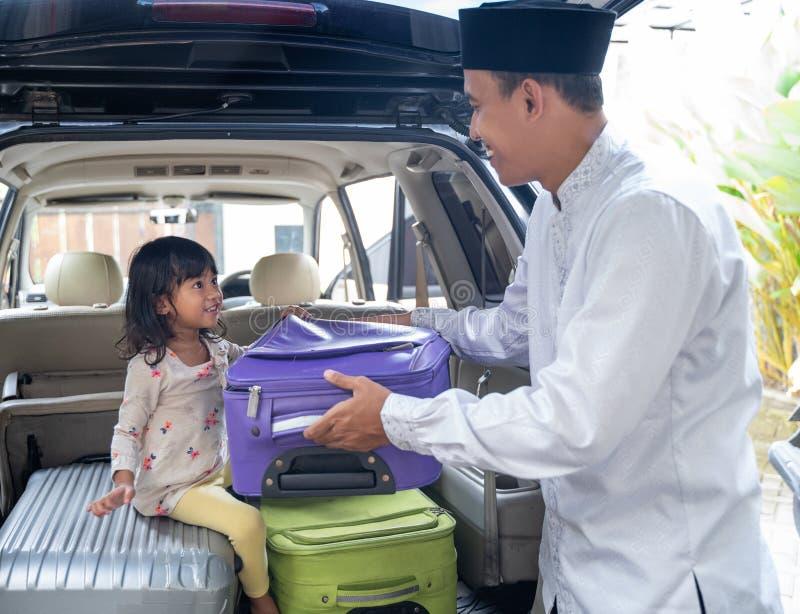 Muzułmański azjatykci rodzinny wakacje zdjęcie royalty free