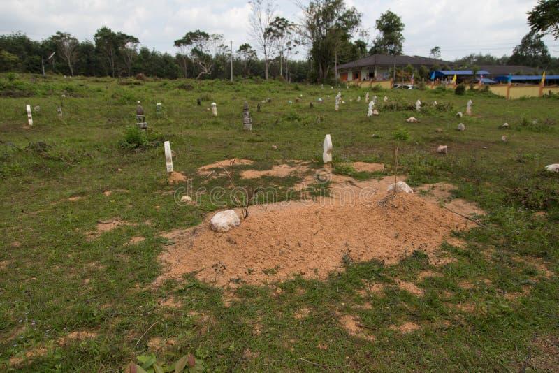 Muzułmański cmentarz w Tajlandia obraz stock