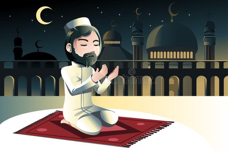 Muzułmański modlenie ilustracja wektor