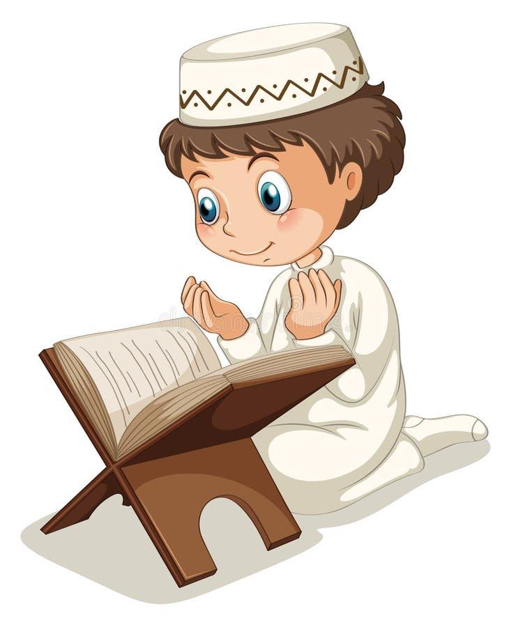 muzułmański modlitwa ilustracja wektor