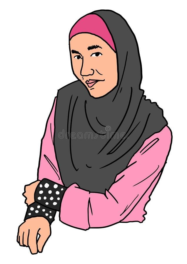 Muzułmańskie kobiety ilustracja wektor