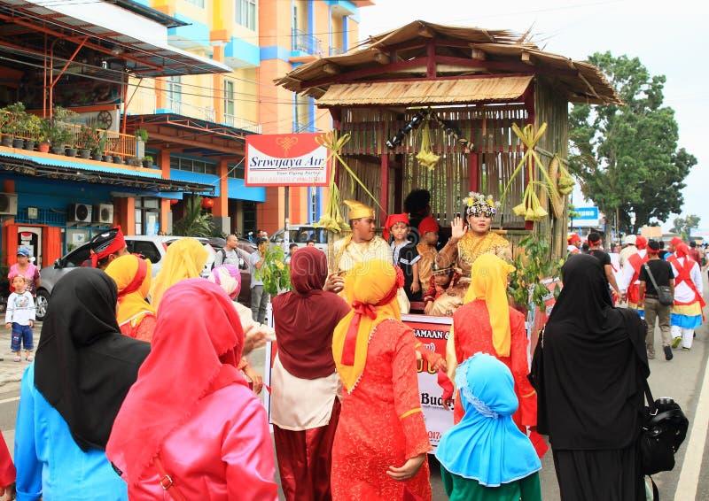 Muzułmańskie kobiety w burkas od Jawa fotografia stock