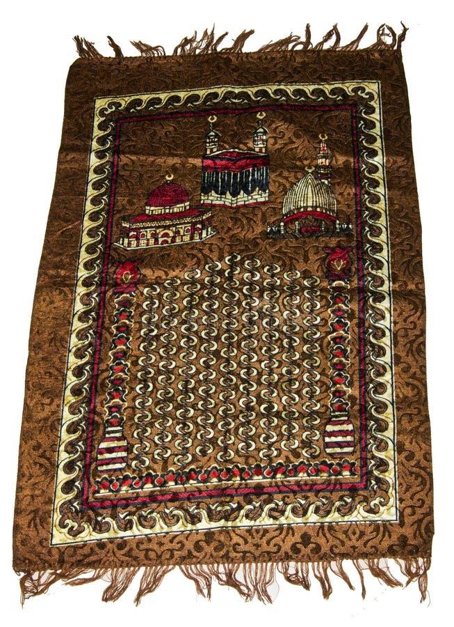 Muzułmanie Modlitewna mata lub dywan obraz royalty free