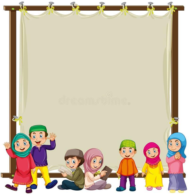 Muzułmanin i znak ilustracji