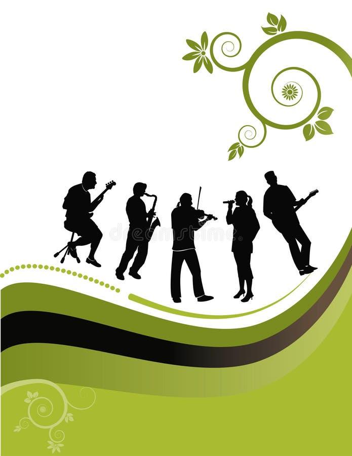muzycy kwieciści tło ilustracji