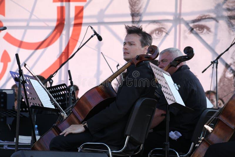 muzycy orkiestra symfoniczna zdjęcie stock
