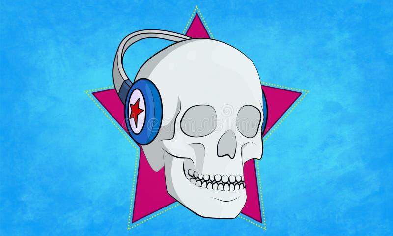 Muzyczna czaszka obraz stock