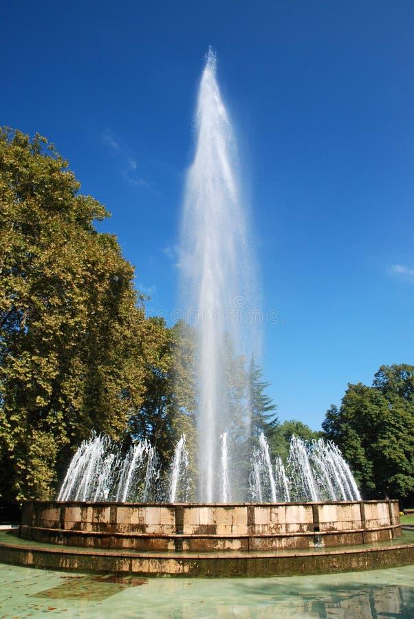 Muzyczna fontanna na Margaret wyspie, Budapest obrazy stock