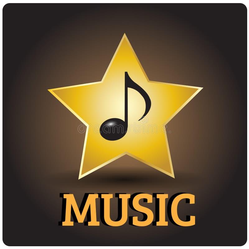 Muzyczna ikona royalty ilustracja