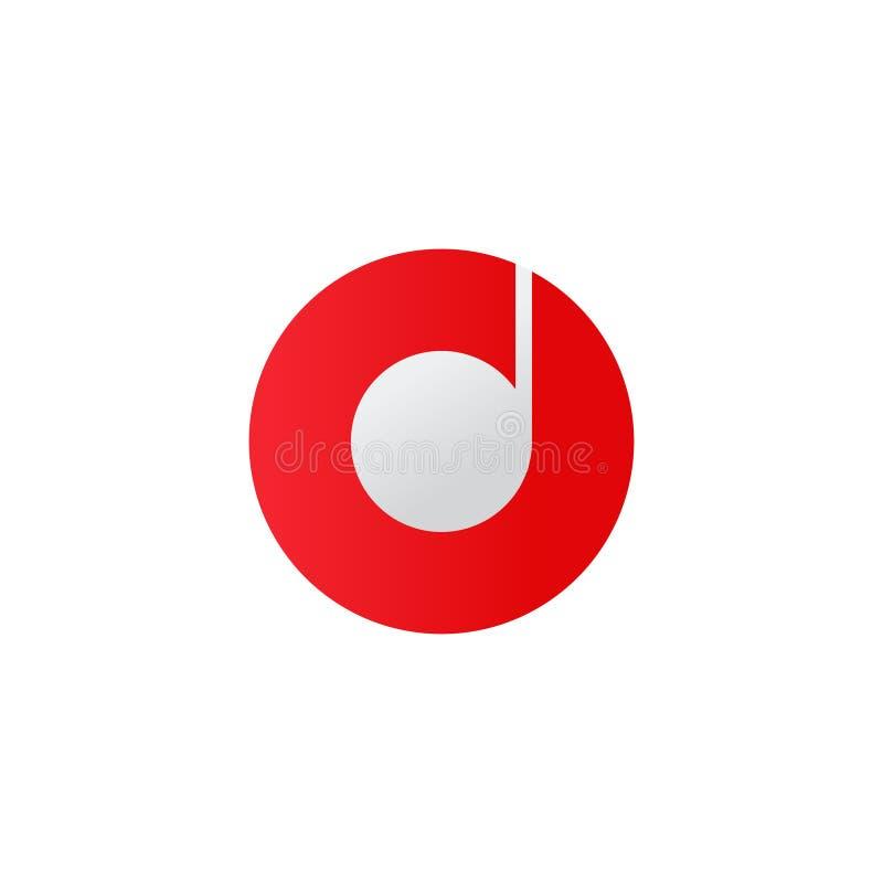 Muzyczna ikona Dyska symbol P?aska wektorowa ilustracja ilustracja wektor