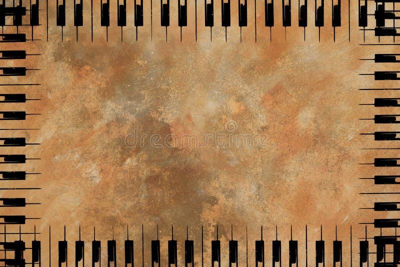 Muzyczna klucz granica ilustracji