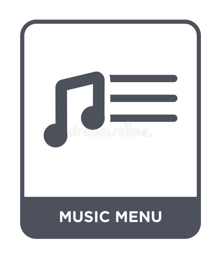 muzyczna menu ikona w modnym projekta stylu muzyczna menu ikona odizolowywająca na białym tle muzycznego menu wektorowa ikona pro royalty ilustracja
