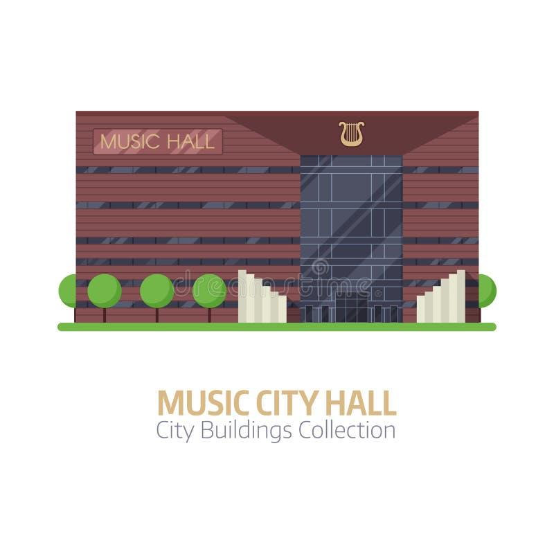 Muzyczna miasto filharmonia ilustracji