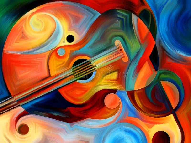 Muzyczna noc ilustracja wektor