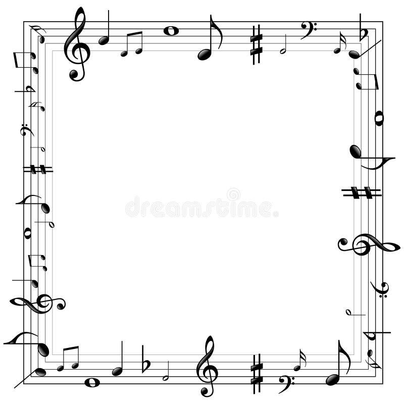 Muzyczna notatki granica royalty ilustracja