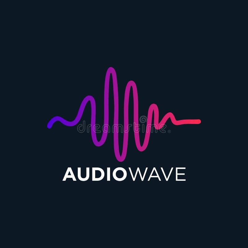 Muzyczna Rozsądna fala, Audio technologia, wektorowa ilustracja royalty ilustracja