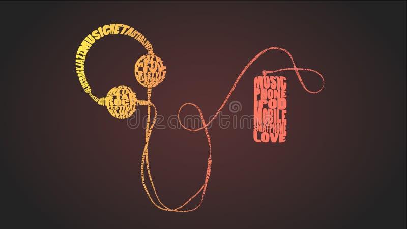 Muzyczna typografia zdjęcie stock