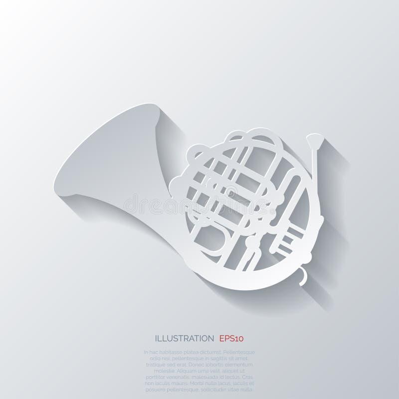 Muzyczna wiatrowych instrumentów sieci ikona ilustracji