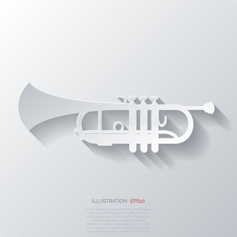 Muzyczna wiatrowych instrumentów sieci ikona royalty ilustracja