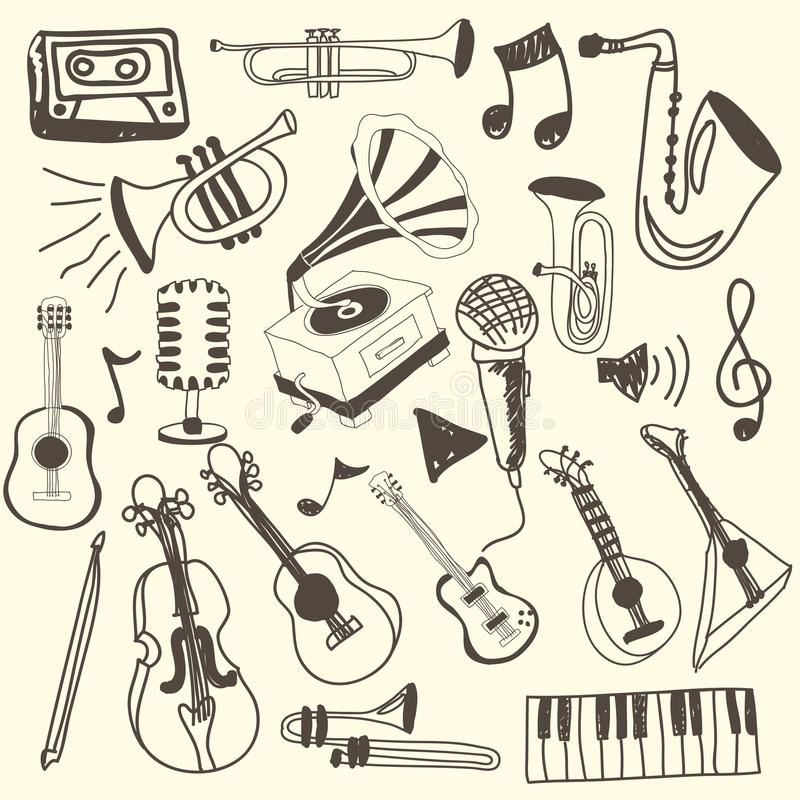 Muzyczne ikony royalty ilustracja