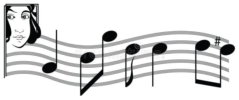 muzyczne kobiety ilustracji