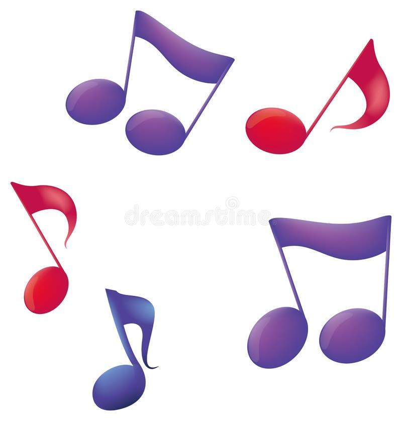 muzyczne notatki ilustracja wektor