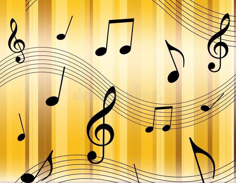 muzyczne notatki royalty ilustracja