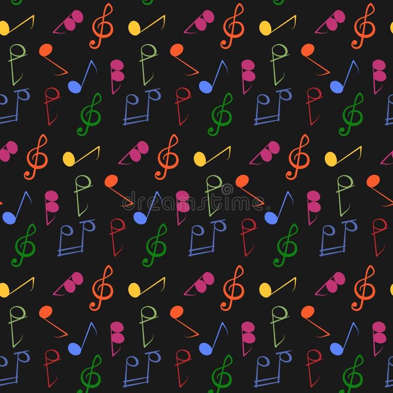 muzyczne notatki deseniuj? bezszwowego ilustracji
